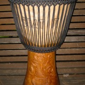 POWERFUL DRUMS :: AFRICAN (GHANA) BUILT DJEMBE